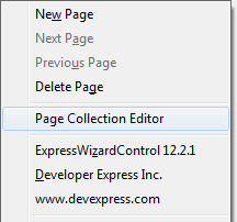 Wizard Context Menu