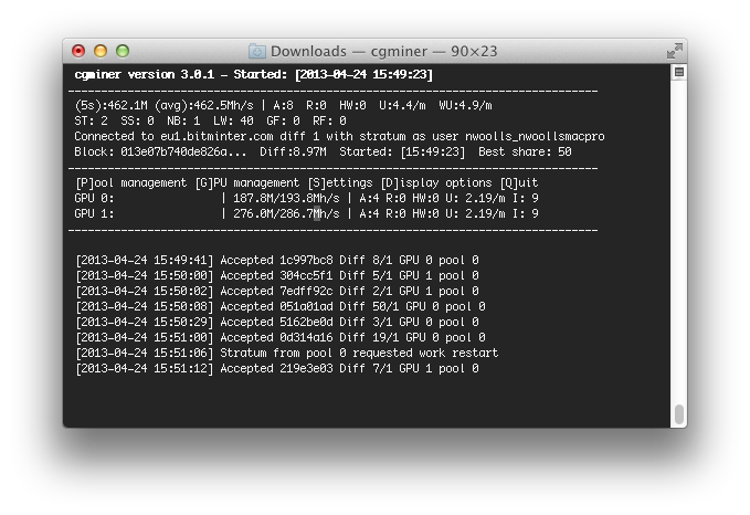 Mac bitcoin miner software - Cgminer litecoin download