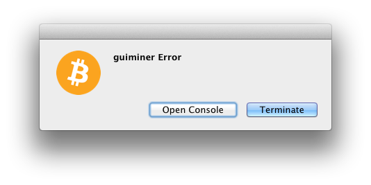 GUIMiner Error