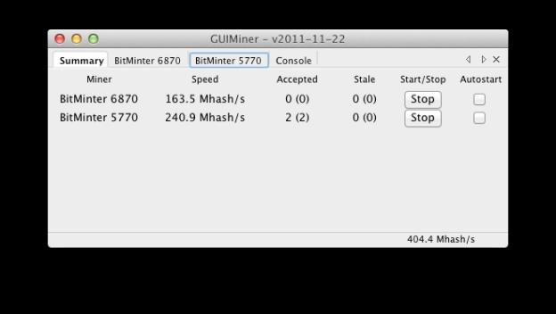 GUIMiner Summary