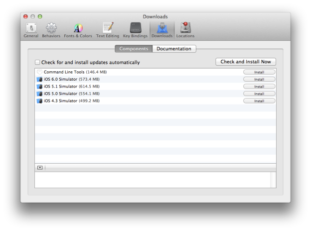 Xcode Downloads