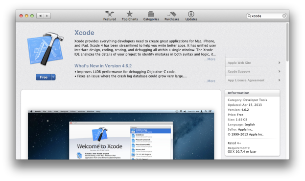 Xcode on App Store