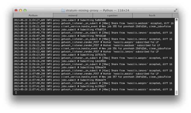 Mining Proxy Output - Clients