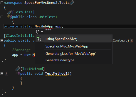 Using SpecsFor.Mvc
