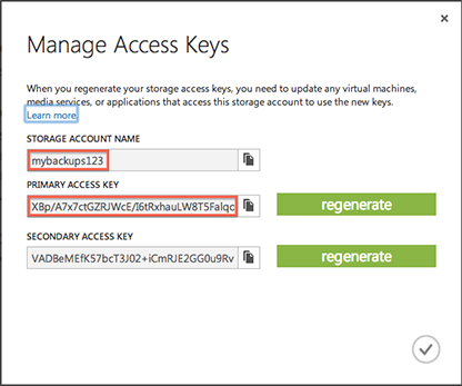Azure Storage Information